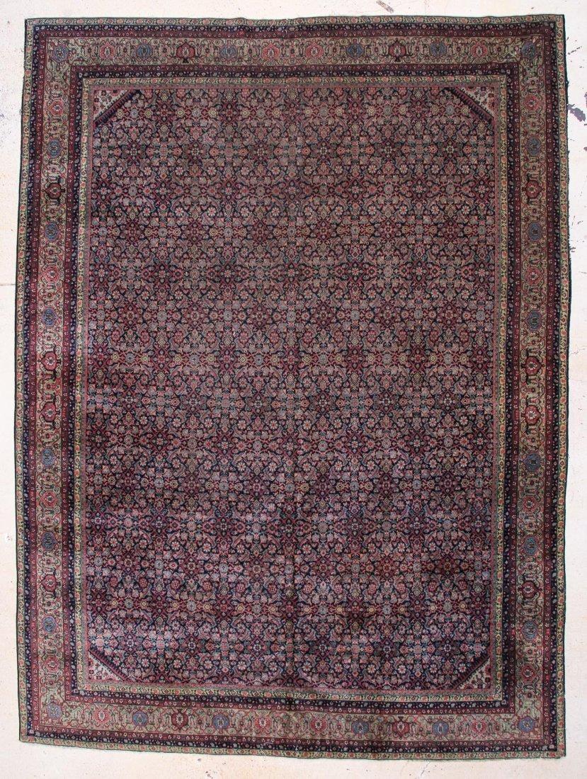 "Fine Ferahan or Tebriz Carpet: 11' x 13'4"""