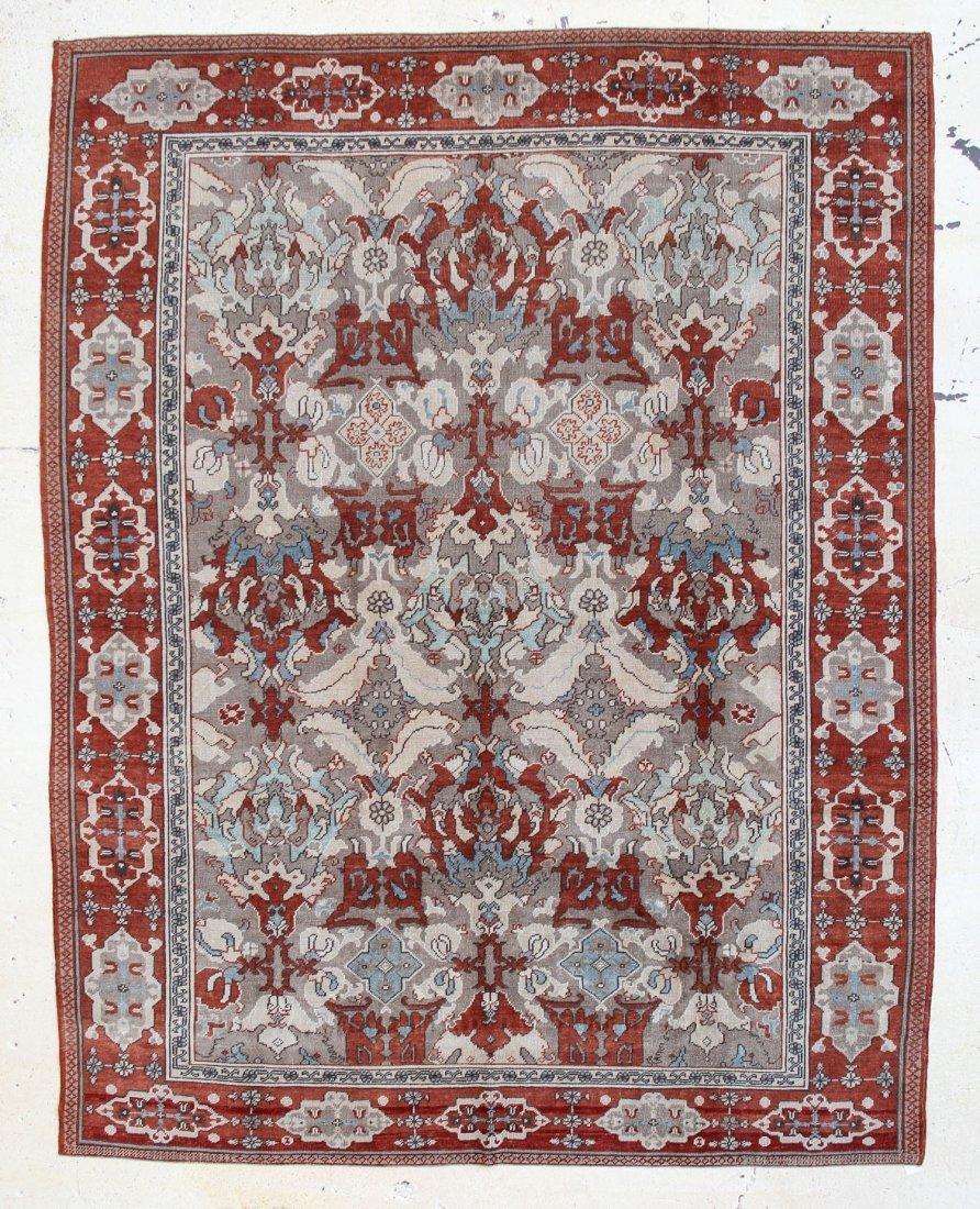 """Oushak Carpet: 8'11"""" x 11'5"""""""