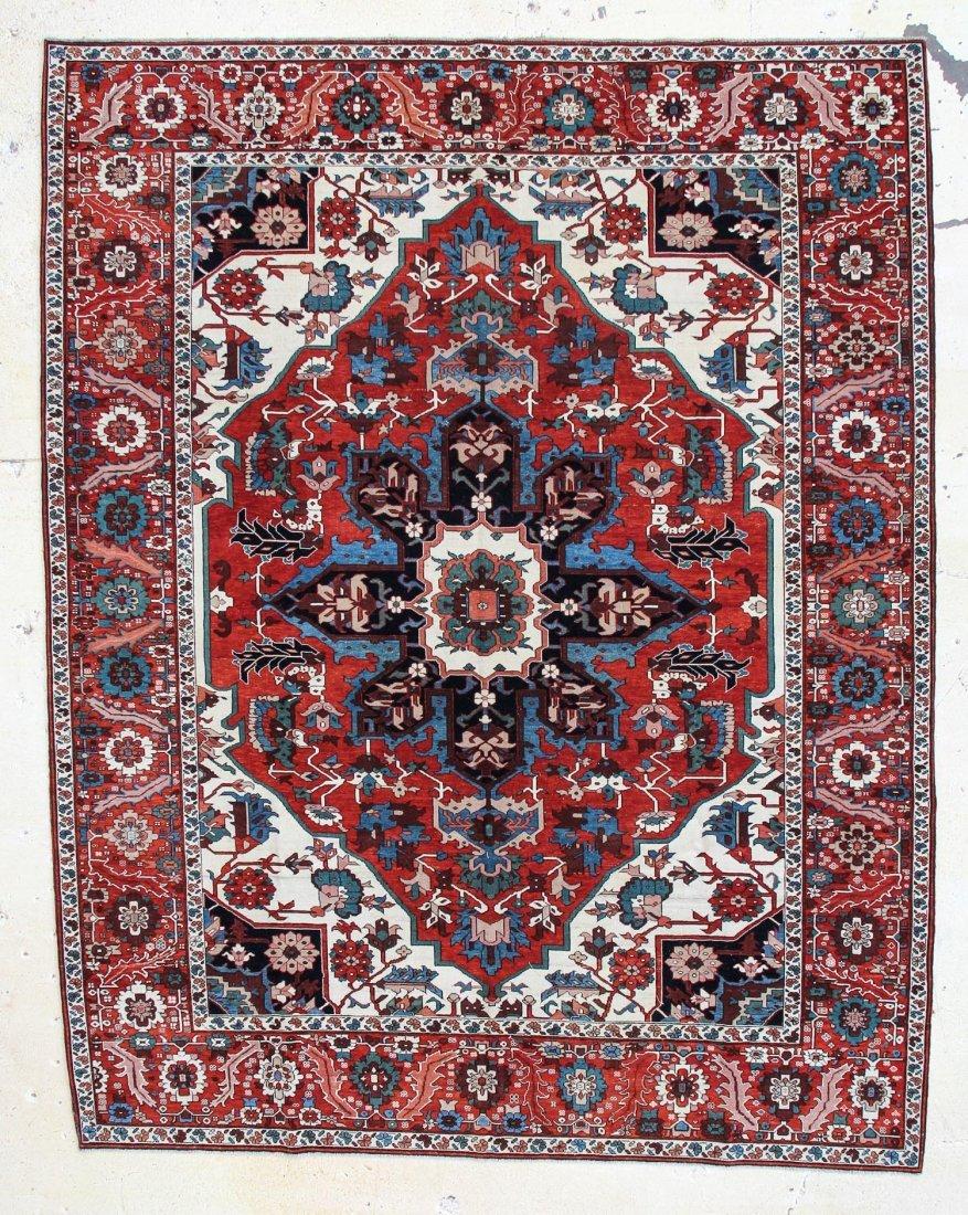 "Fine Heriz Carpet: 8'9"" x 11'1"""