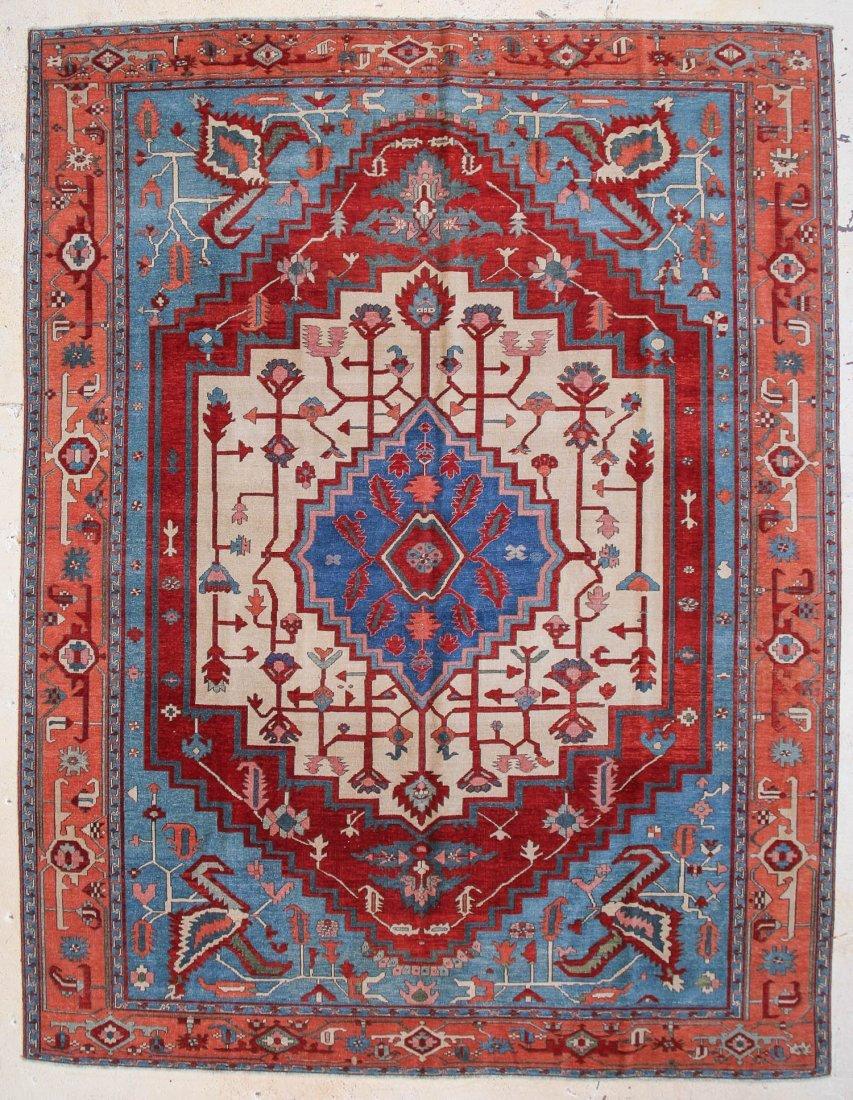"Fine Heriz Carpet: 10'2"" x 13'3"""