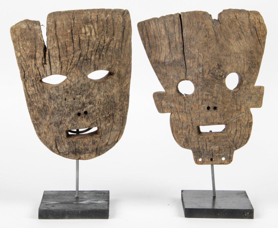 Fine Pair Tanzanian Masks, Possibly Sukuma or Kwere