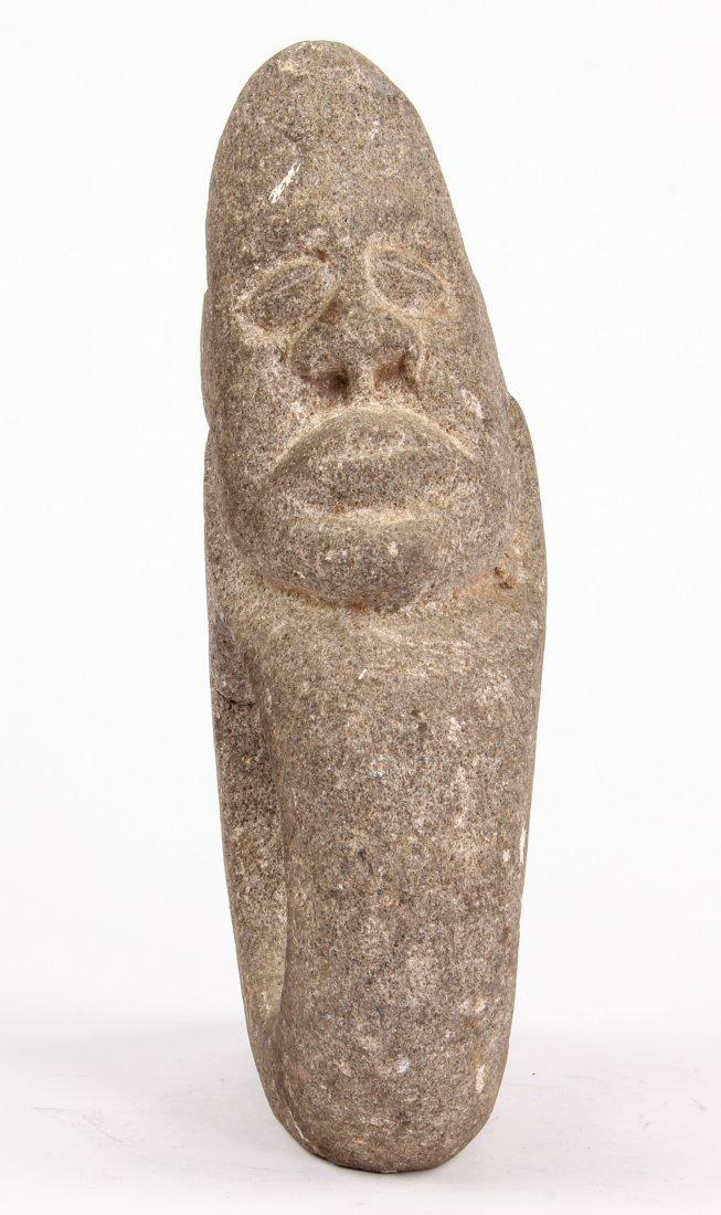 Pre-Columbian Carved Stone Mace Head