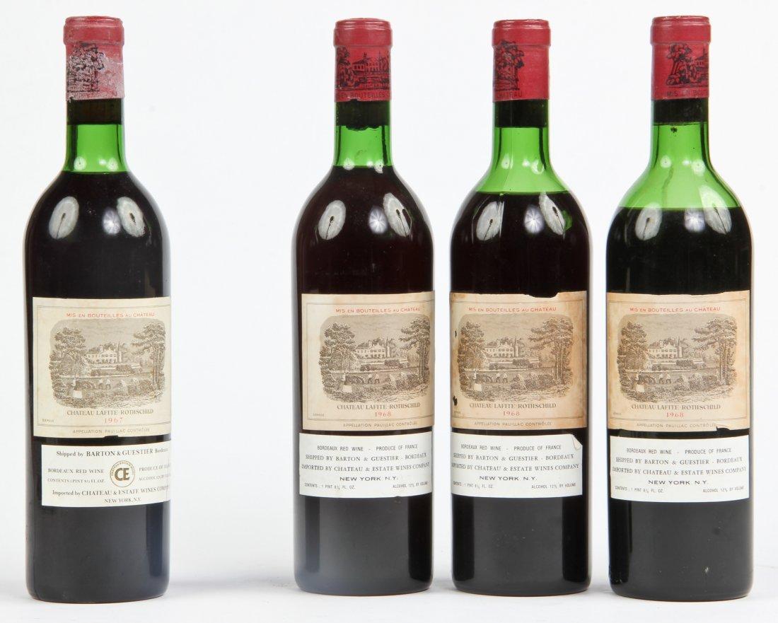 Estate Lot of 4 Chateau Lafite Rothschild Pauillac Wine