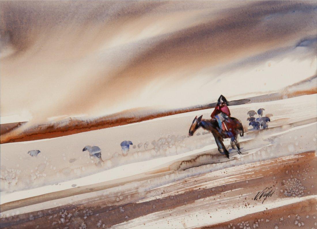 Veloy Joseph Vigil (American 1931-1997). Watercolor