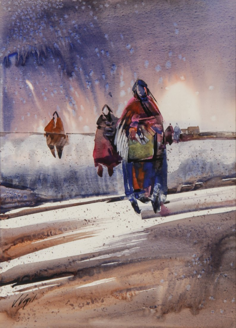 Veloy Joseph Vigil (American 1931 - 1997). Watercolor