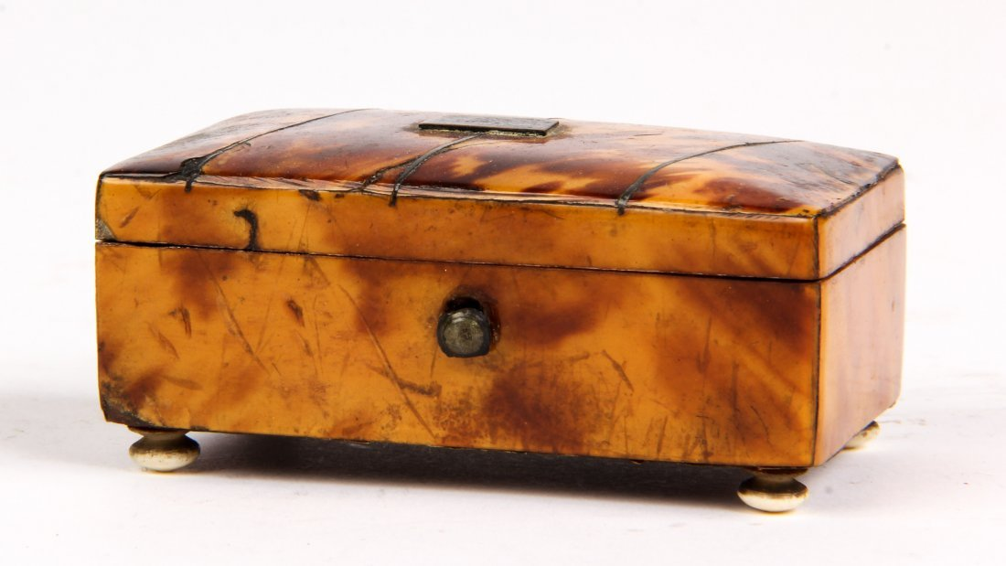 Diminutive Antique Tortoise Shell Box