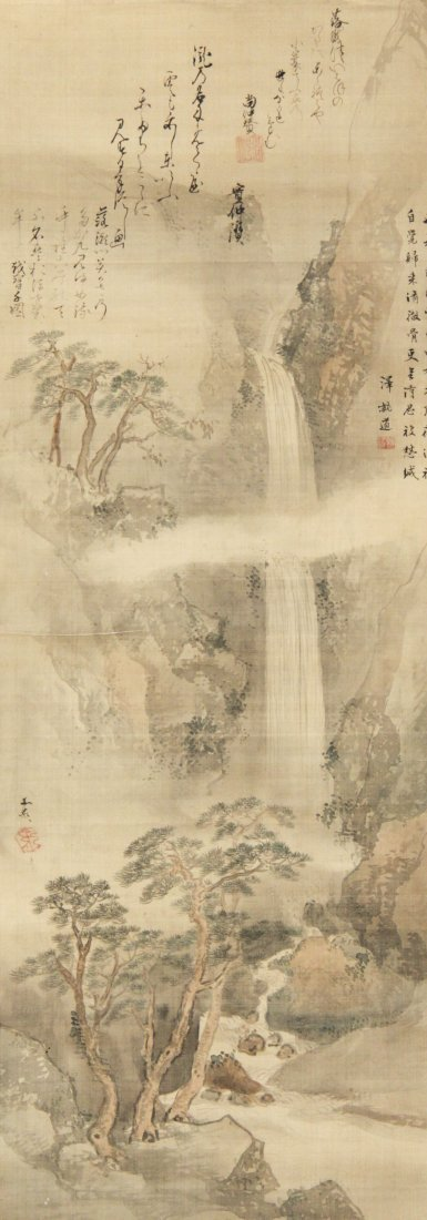 Tani Buncho (Japanese, 1763-1840) Hand-Painted Scroll