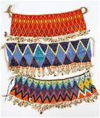 Three Old African Beaded Cache-Sexe Aprons