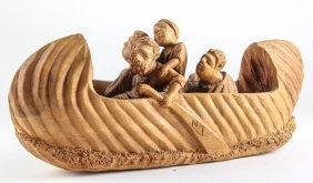 Haitian Wood Sculpture by Nacius Joseph, Haiti