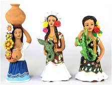 Guillermina Aguilar, Mexican Folk Art, 3 Oaxacan Clay