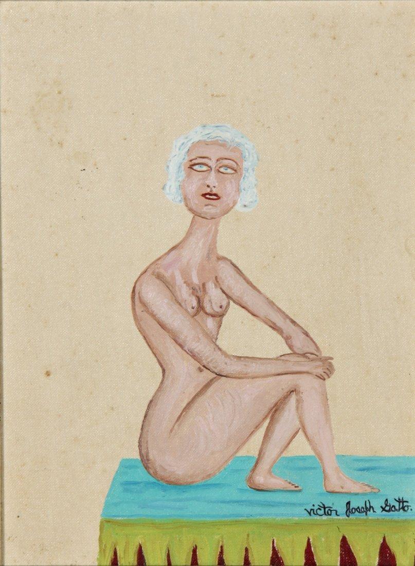Victor Joseph Gatto Oil Painting, Nude