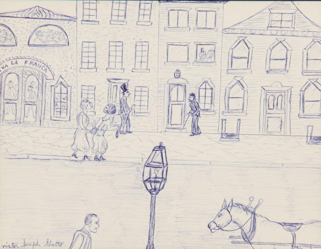 Victor Joseph Gatto Drawing, Via LaFranca