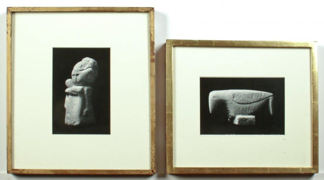 Two Framed BW Photographs of Edmondson Works