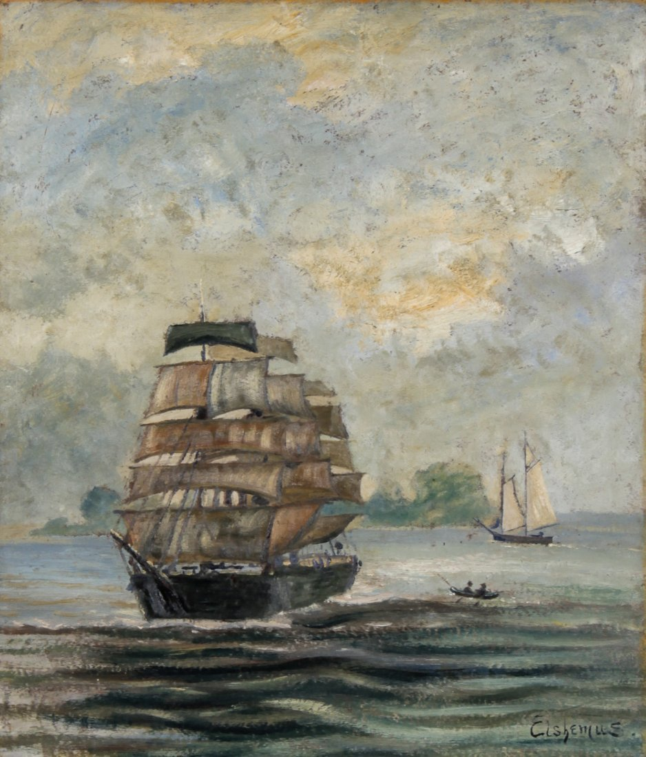 Louis Michel Eilshemius Oil Painting, In Full Sail