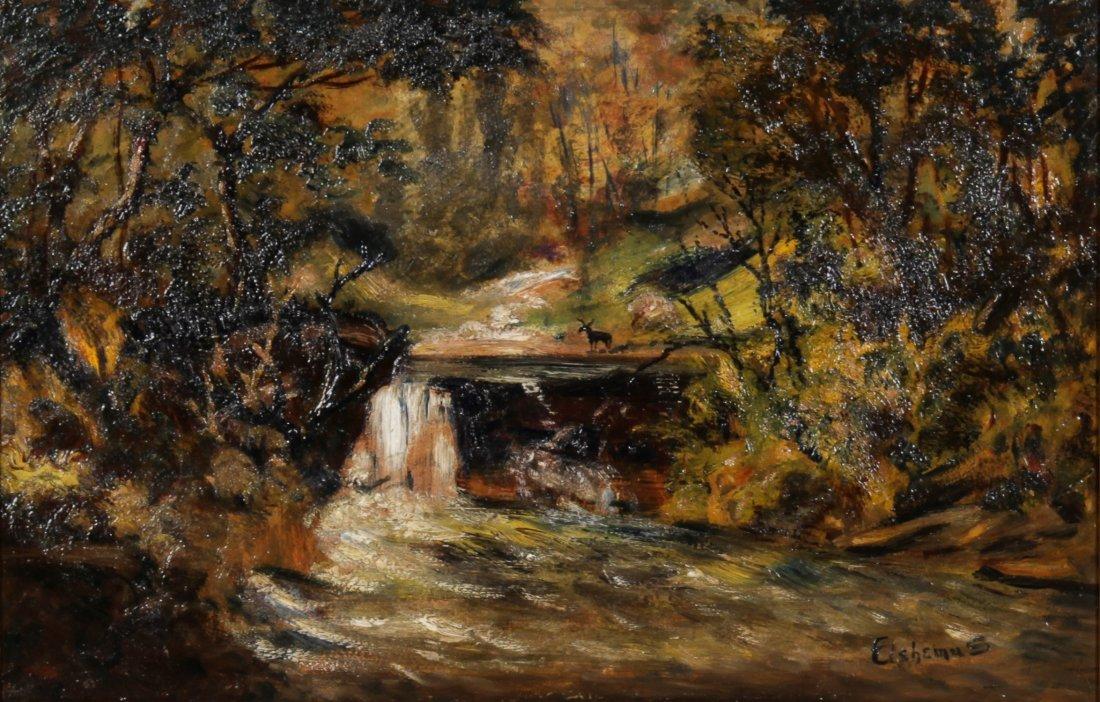 Louis Michel Eilshemius Oil, Woodland Scene