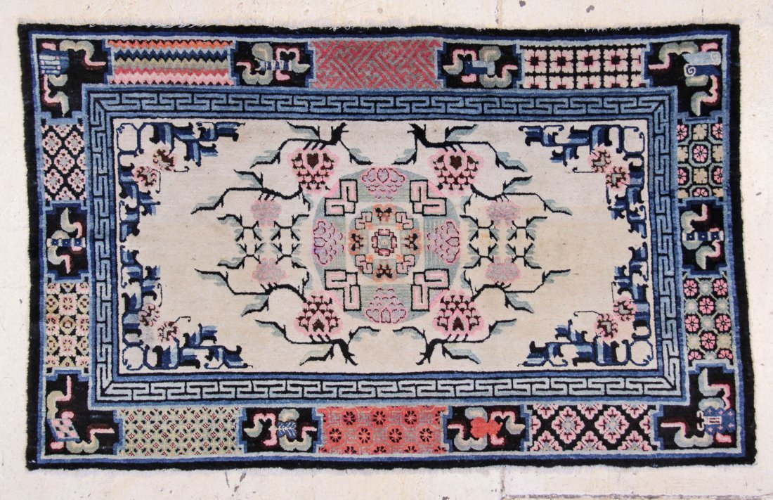 """Chinese or Mongolian Rug: 4'3"""" x 6'4"""""""