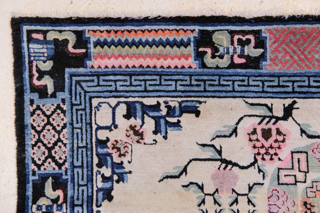 """Chinese or Mongolian Rug: 4'3"""" x 6'4"""" - 2"""