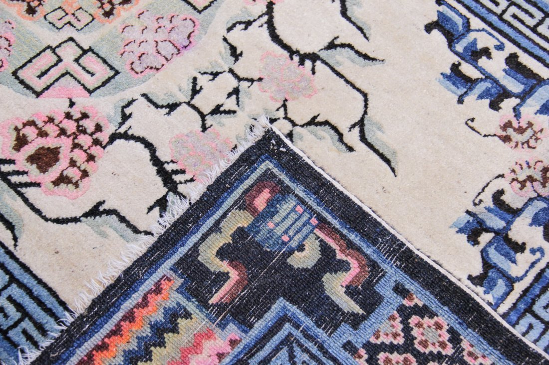 """Chinese or Mongolian Rug: 4'3"""" x 6'4"""" - 4"""
