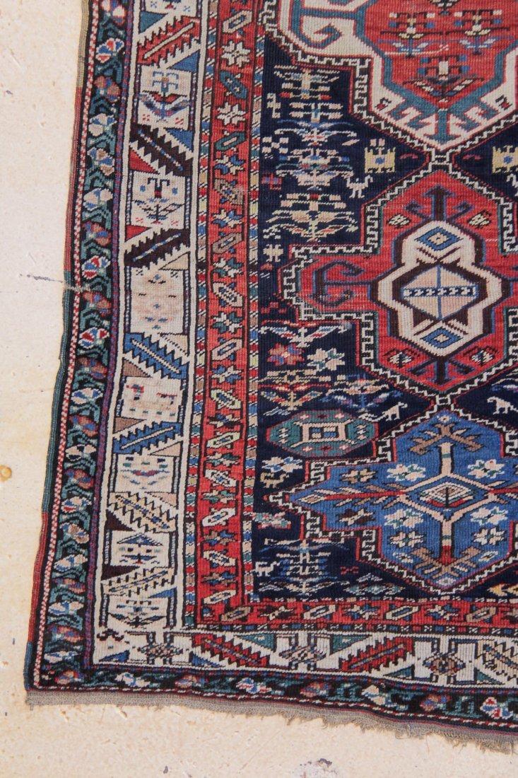 "South Caucasian Long Rug: 4'2"" x 11'1"" - 2"