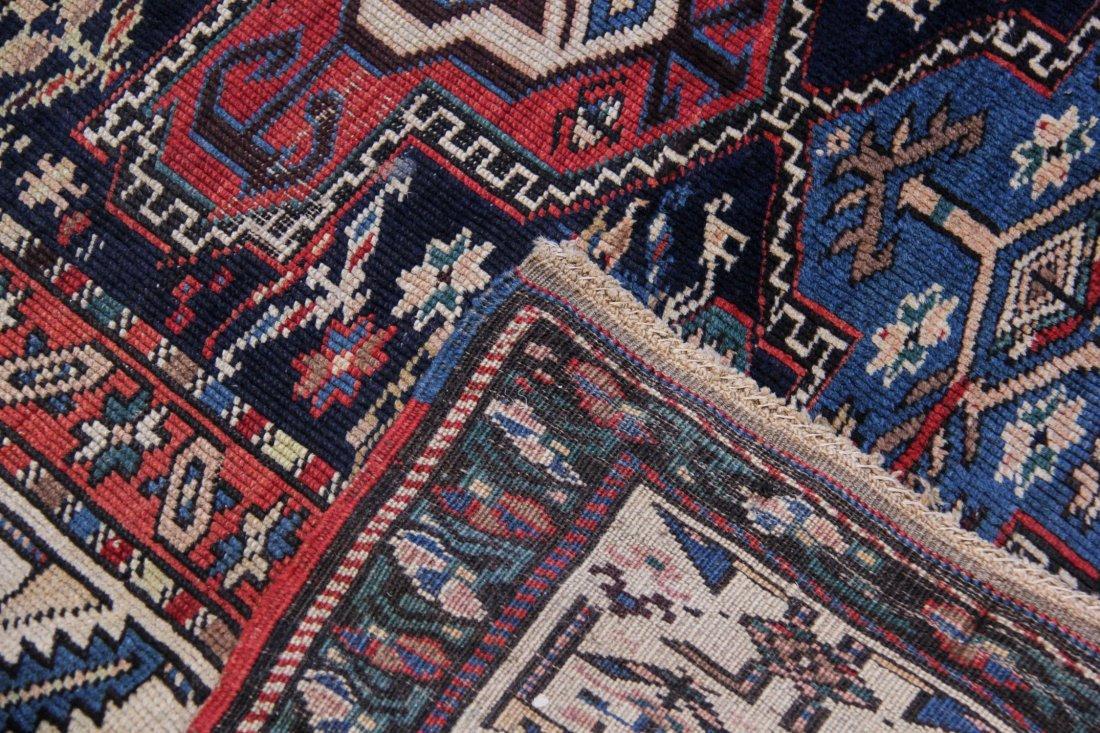 "South Caucasian Long Rug: 4'2"" x 11'1"" - 4"