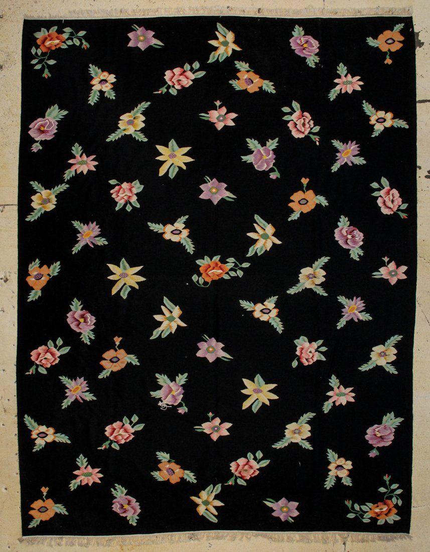 """Wool Bessarabian Kilim: 8'10"""" x 11'9"""""""