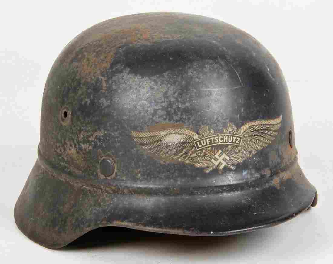 German M1942 Beaded Luftschutz Helmet