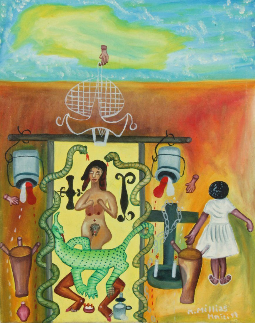 Millias, Haitian Oil Painting
