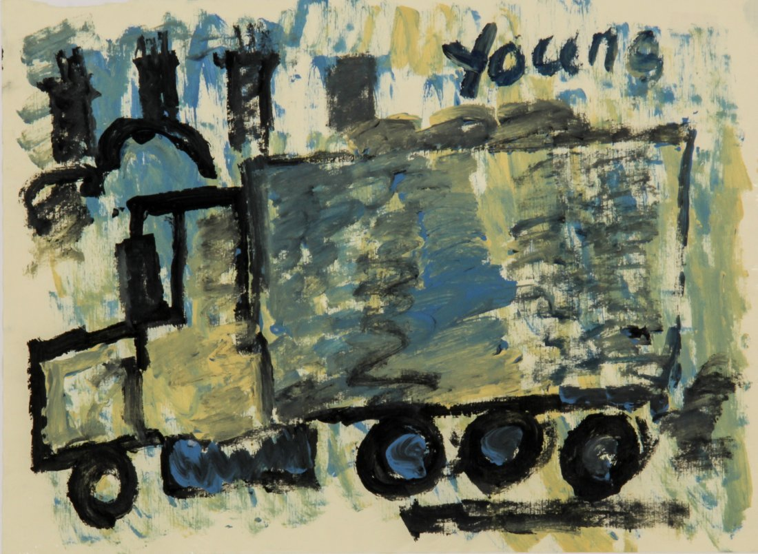 Purvis Young, Work on Paper
