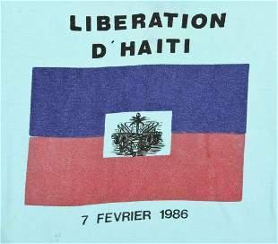 Liberation d'Haiti, 7 Fevrier 1986 Cloth T-Shirt