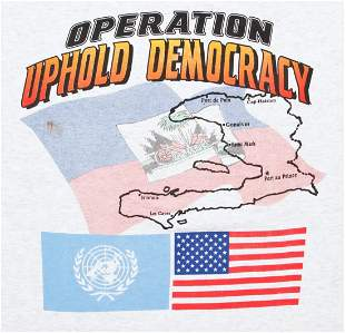 Operation Uphold Democracy Cloth t-shirt (Haiti)