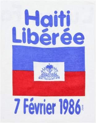 Haiti Liberee - 7 Fevrier 1986 Cloth t-shirt