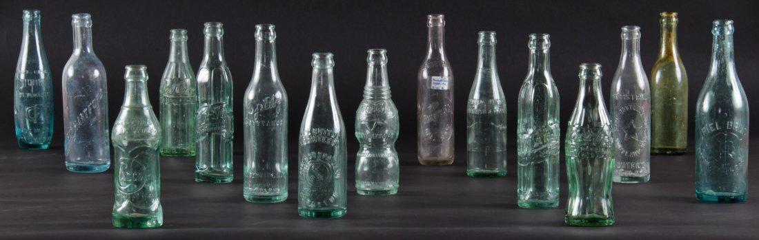 15 Rare Vintage Glass Bottles, various sizes