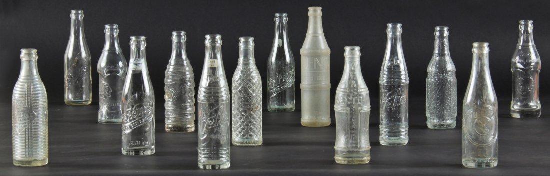 14 Rare Vintage Glass Bottles, various sizes