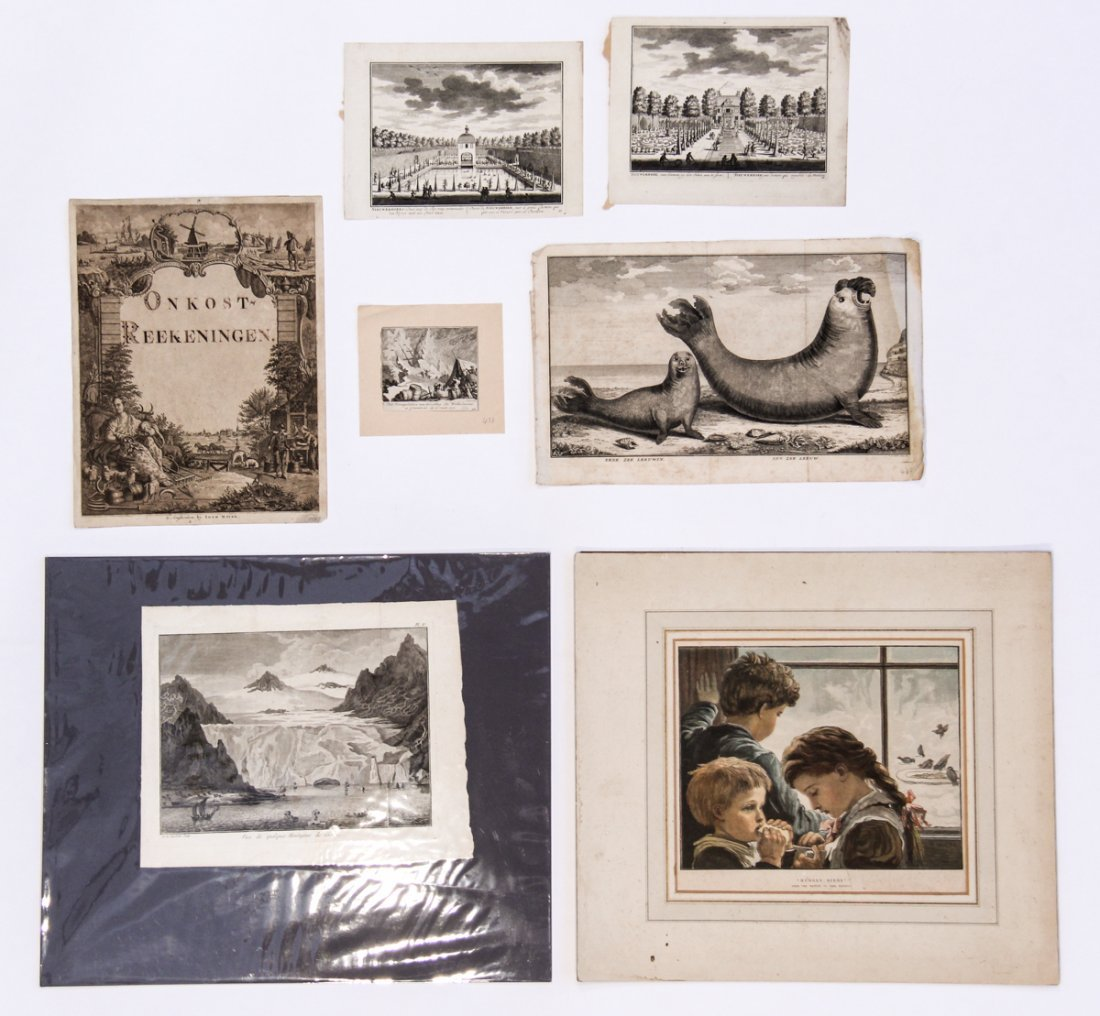 Group of 7 Engravings, Various Artists.