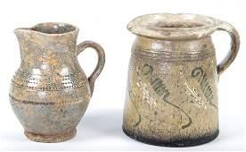 Two Ceramic Glazed Pitchers