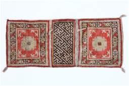 "Antique Khotan Saddlebag: 17.5"" x 42"" (44 x 107 cm)"