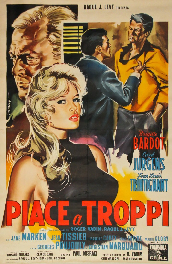Vintage Brigitte Bardot Movie Poster