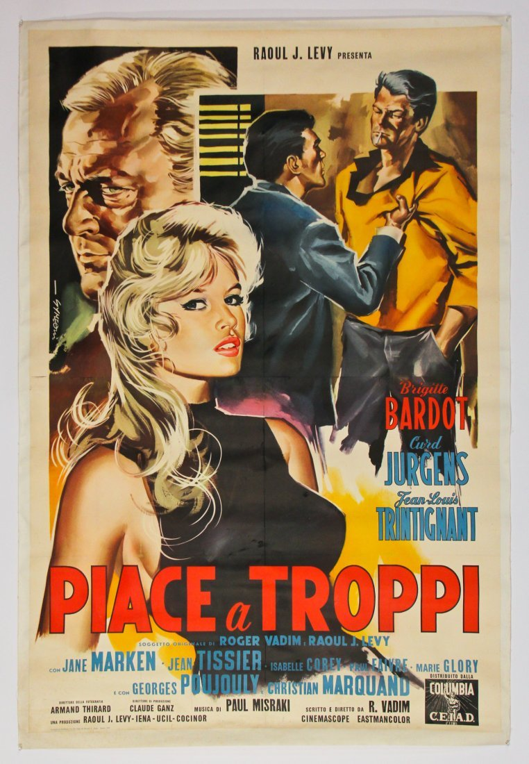 Vintage Brigitte Bardot Movie Poster - 2