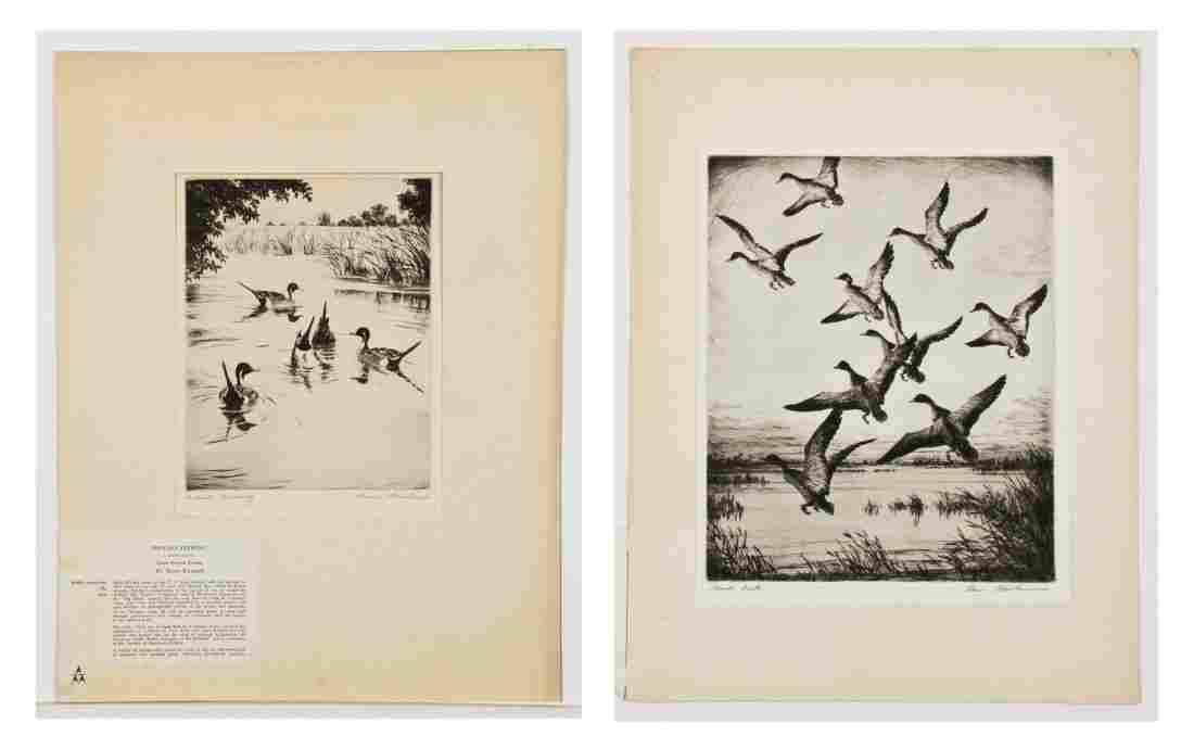 Hans Kleiber (German, 1887-1967) Two Etchings