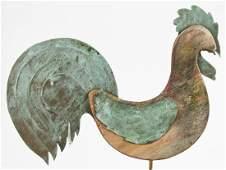 Folk Art Rooster Form Weathervane