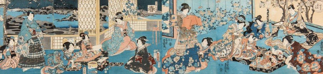 Antique Utagawa Serial Woodblock Print