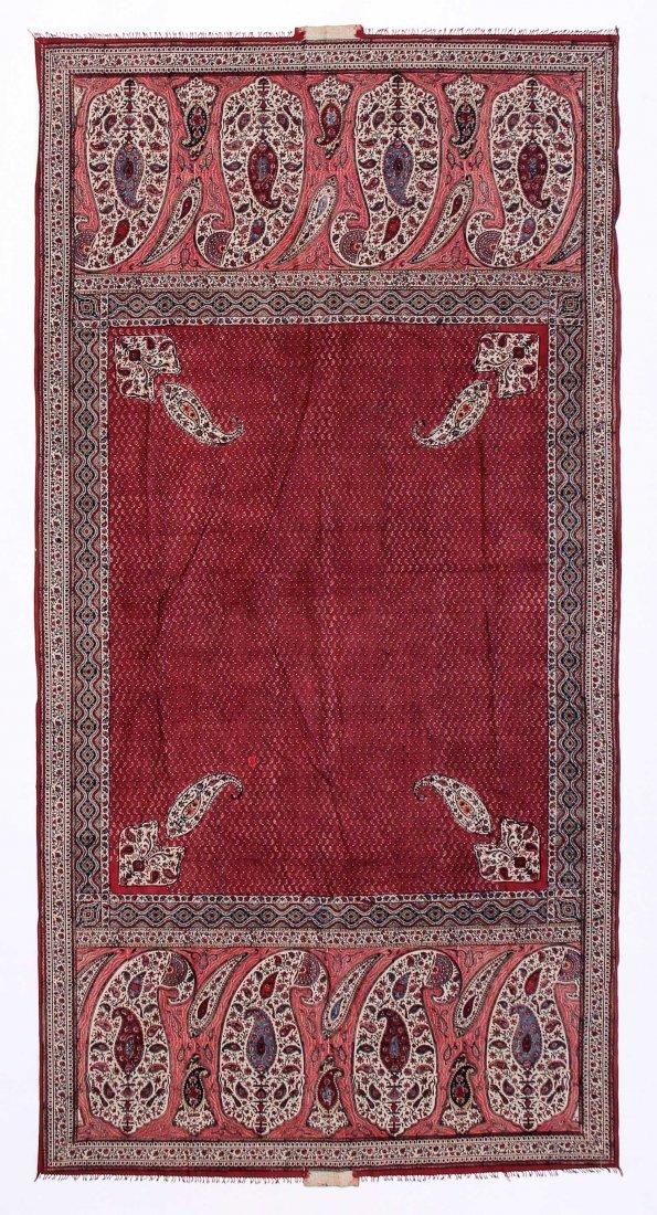 """19th C. Indian Door Hanging: 53"""" x 104"""""""