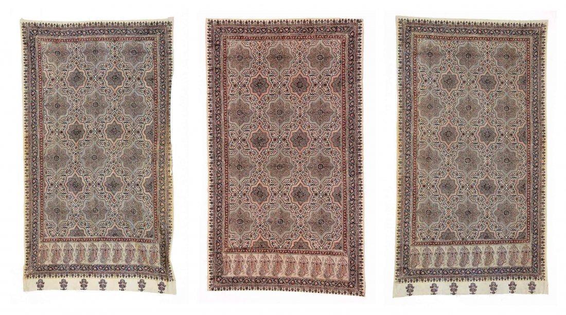 Lot of 3 Persian Block Printed Door Hangings