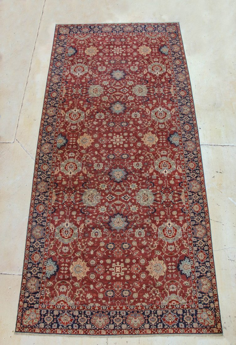 """Palace-Size Sultanabad Carpet: 12'9"""" x 28'3"""""""