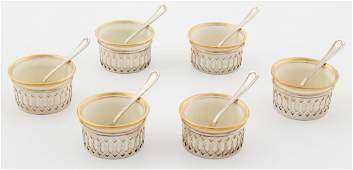 Watrous Silver and Lenox Porcelain Salt Service