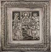 Henryk Winograd Pure Silver Russian Icon depicting the