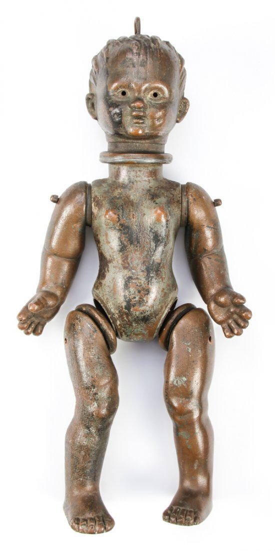 Antique Copper Articulated Doll Form