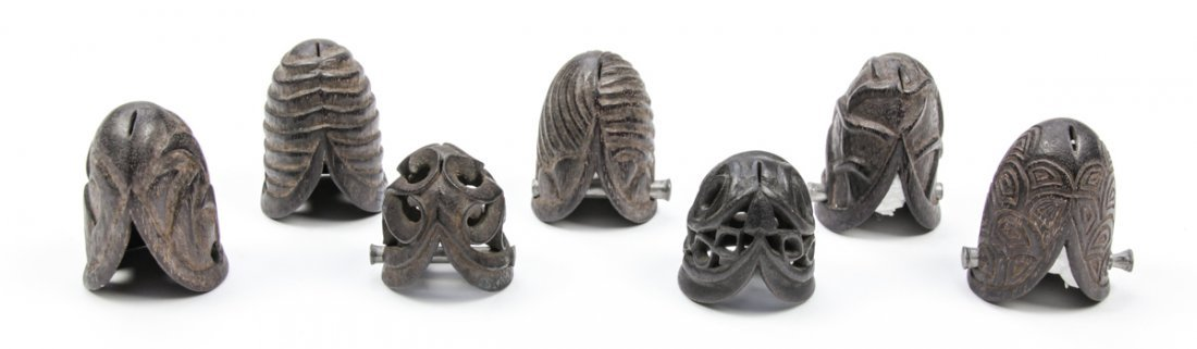 Collection of 7 Borneo Prepuce/Penis Caps - 2