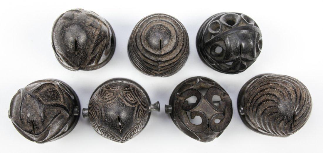 Collection of 7 Borneo Prepuce/Penis Caps - 3