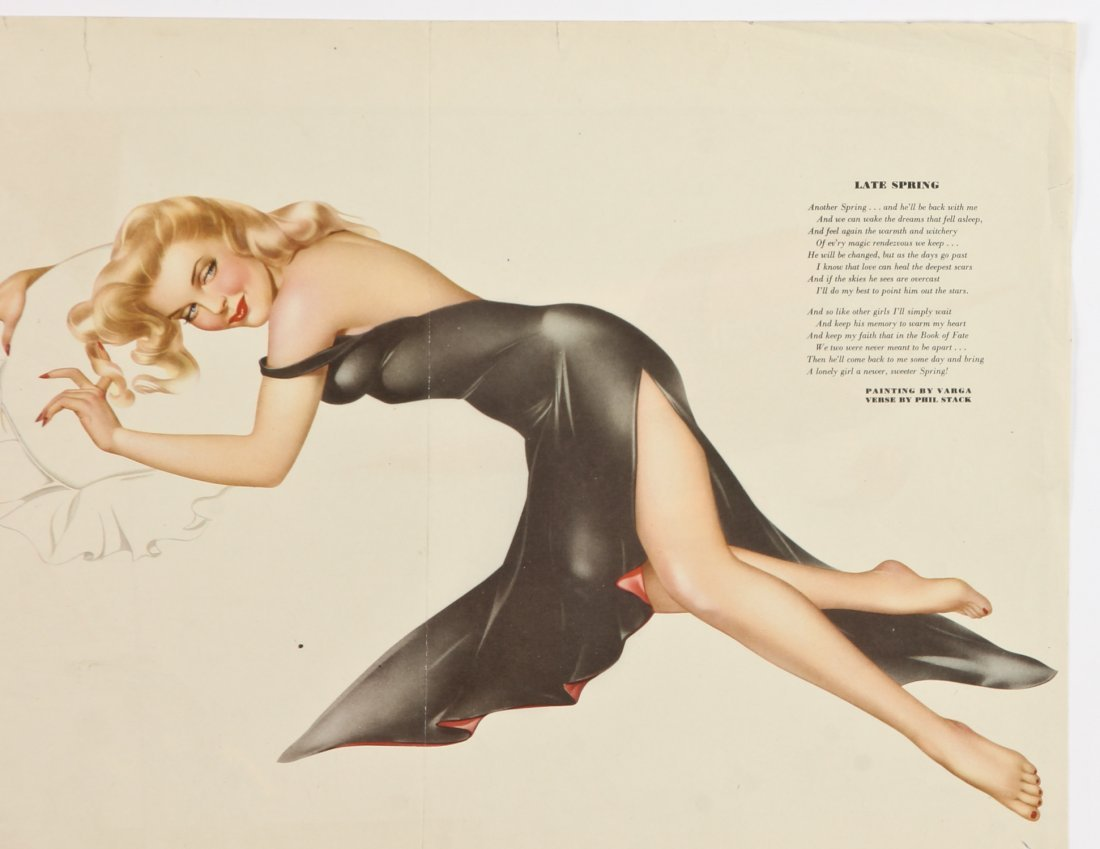 Group of 5 1940's Alberto Vargas Pinup Girl Centerfolds - 4